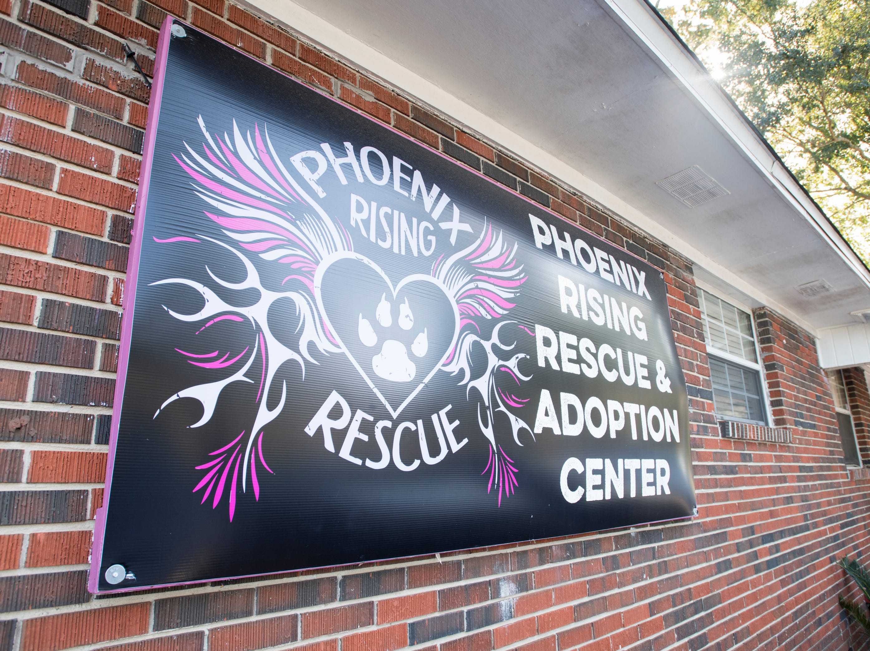 Front of the Phoenix Rising Rescue & Adoption Center in Cantonment on Tuesday, December 4, 2018.