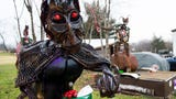 Adams County sculpture artist Jeff Asper uses recycled materials to create intricate sculptures of Christmas lore-inspired characters.