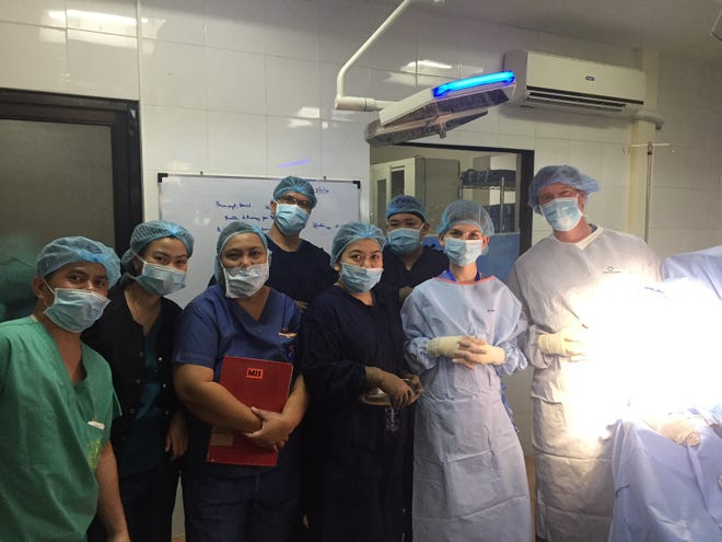 In February, Dr.'s Jefferey Michaelson, MD and Victor Nwosu, DPM traveled to the Philippines with residents and some of their family members to offer medical treatment in a local hospital.