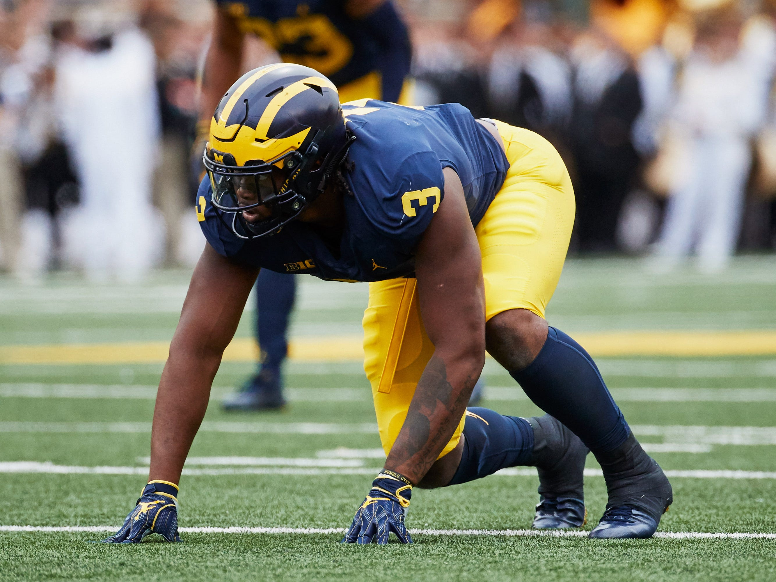 Michigan defensive lineman Rashan Gary.