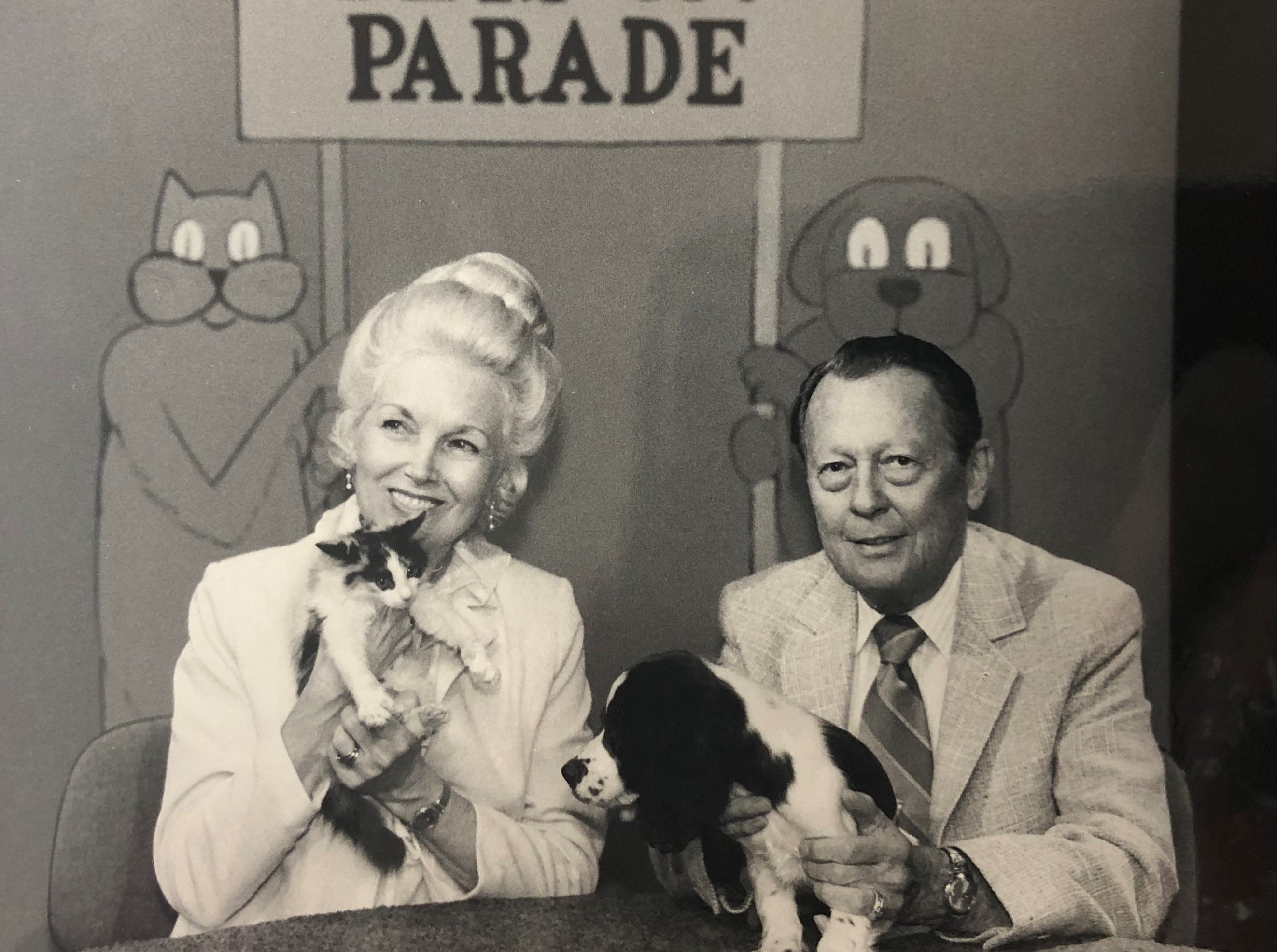 "Two guests appear on ""Pets on Parade."""