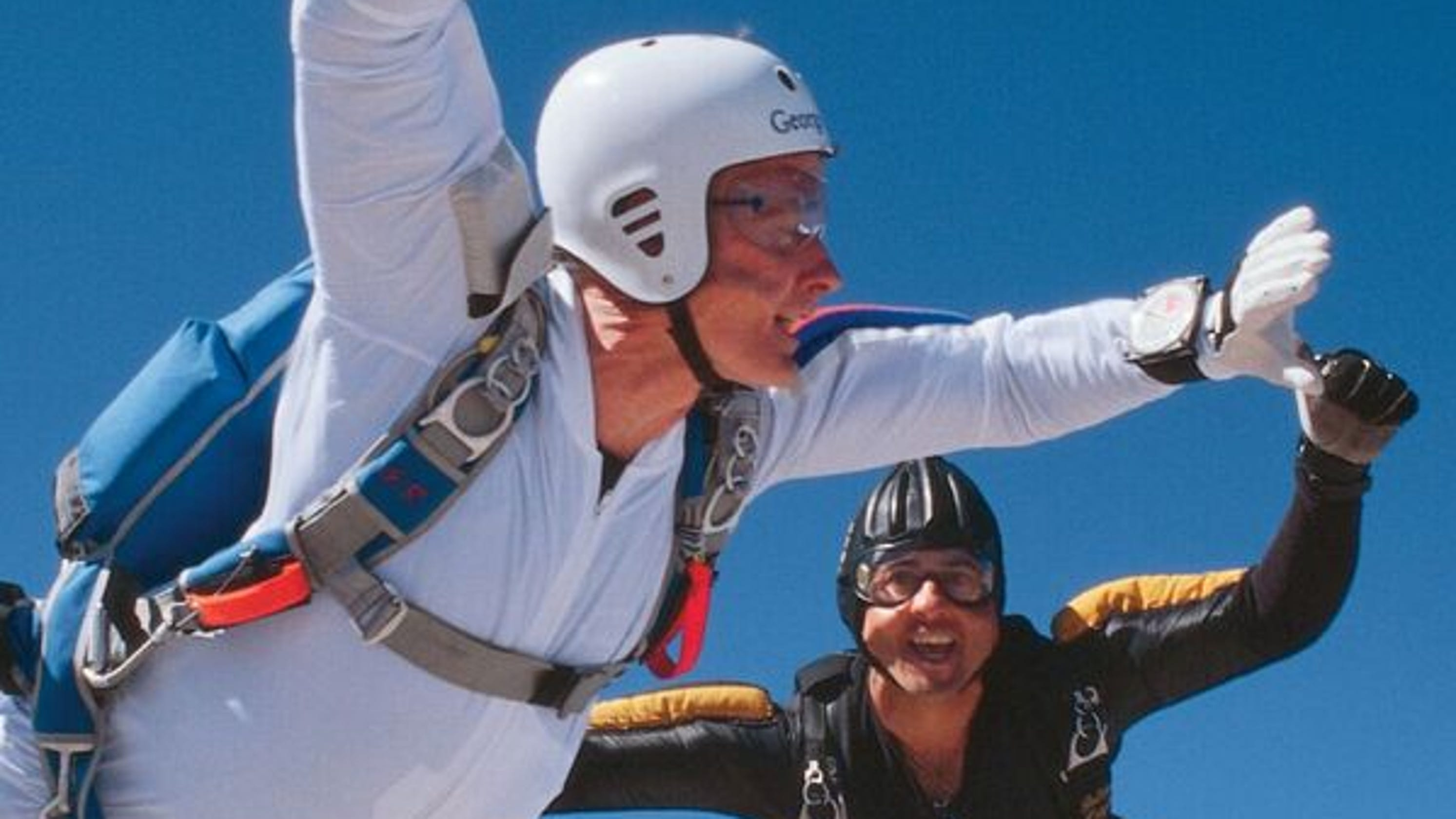 The time President George H  W  Bush jumped out of a plane