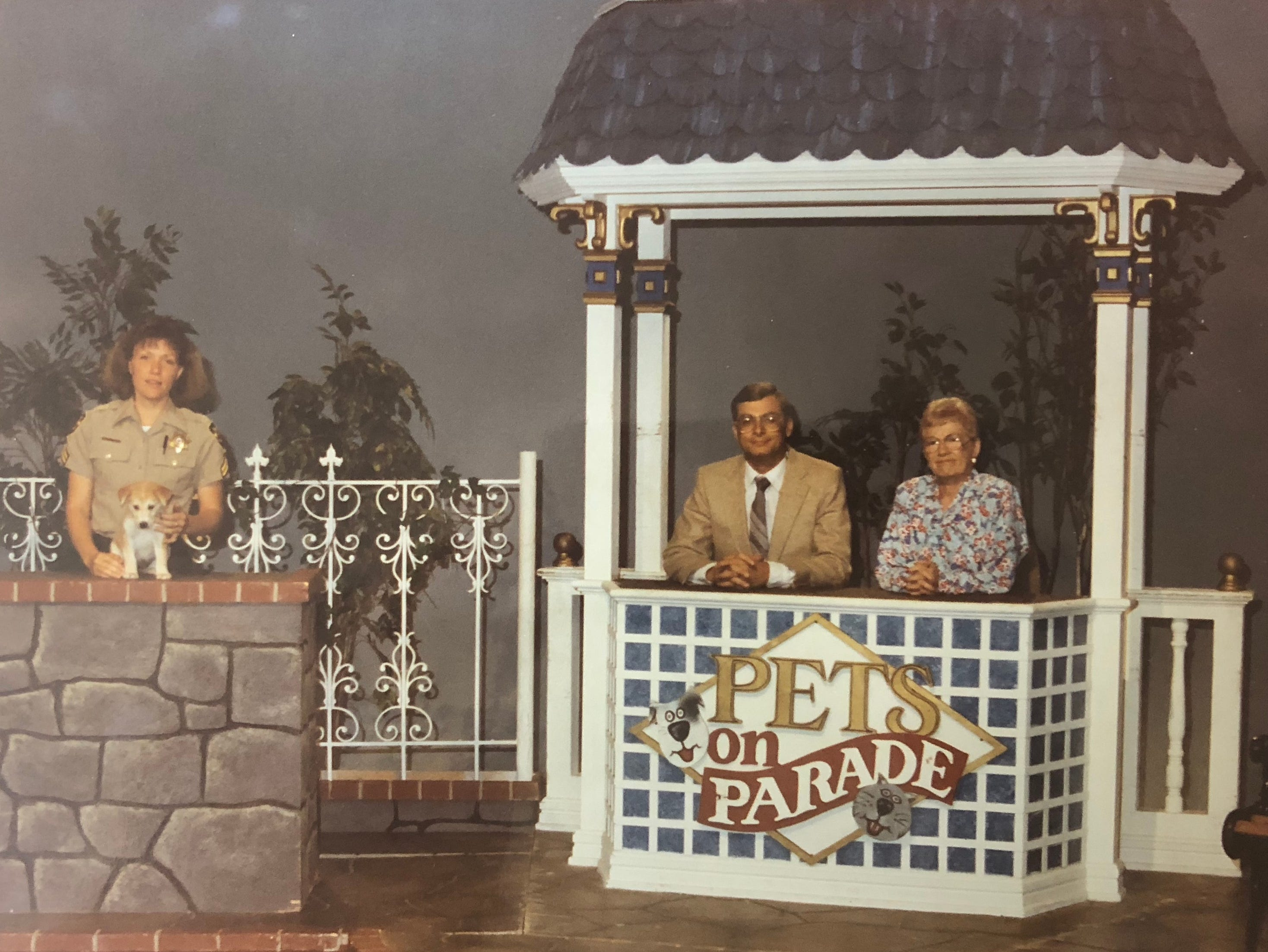 "Melinda McGary (from left), Marge Wright and Jeff Reid appear on ""Pets on Parade."""