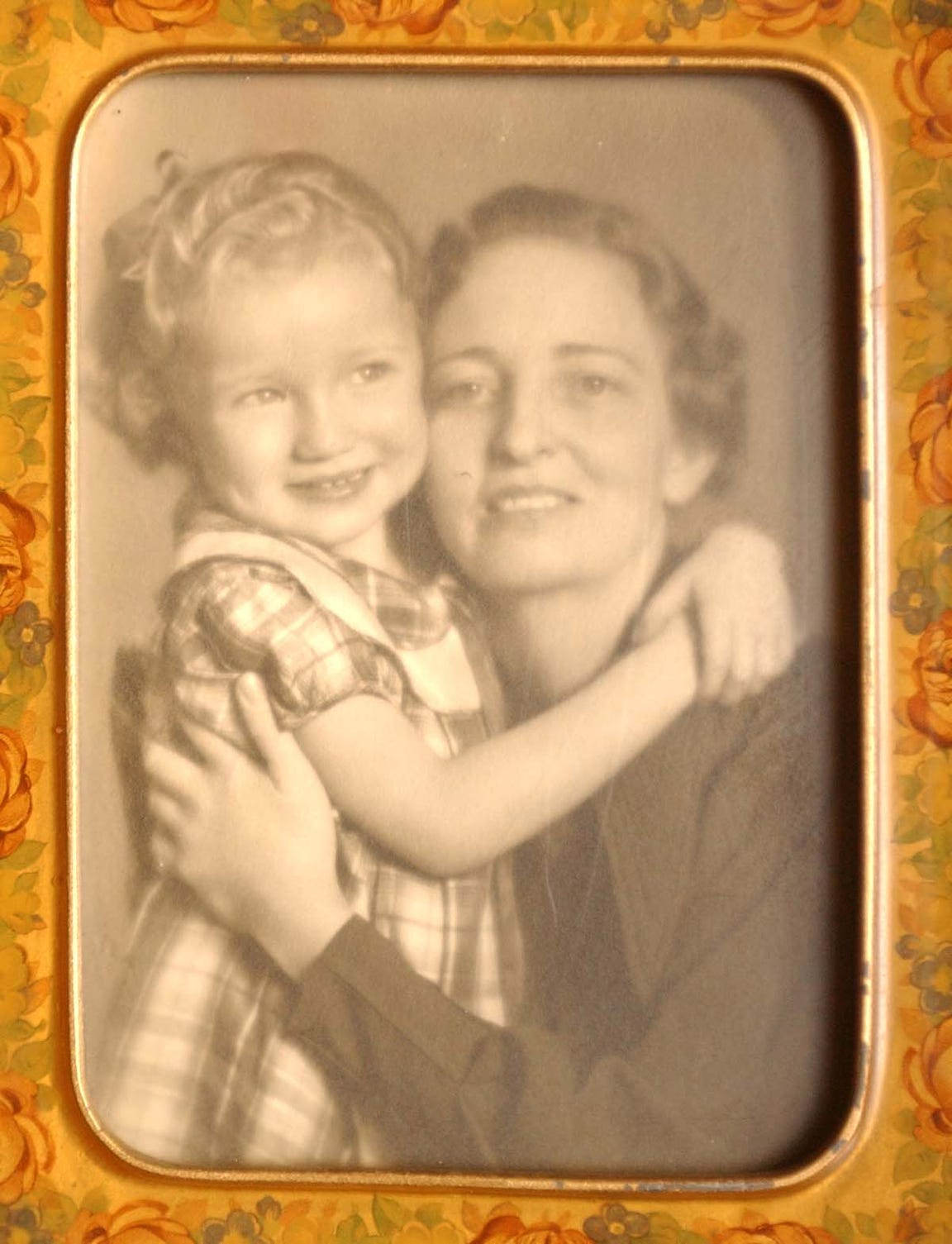 Sharon Elliott at 4-years-old with her adoptive mother Faith Morrow.