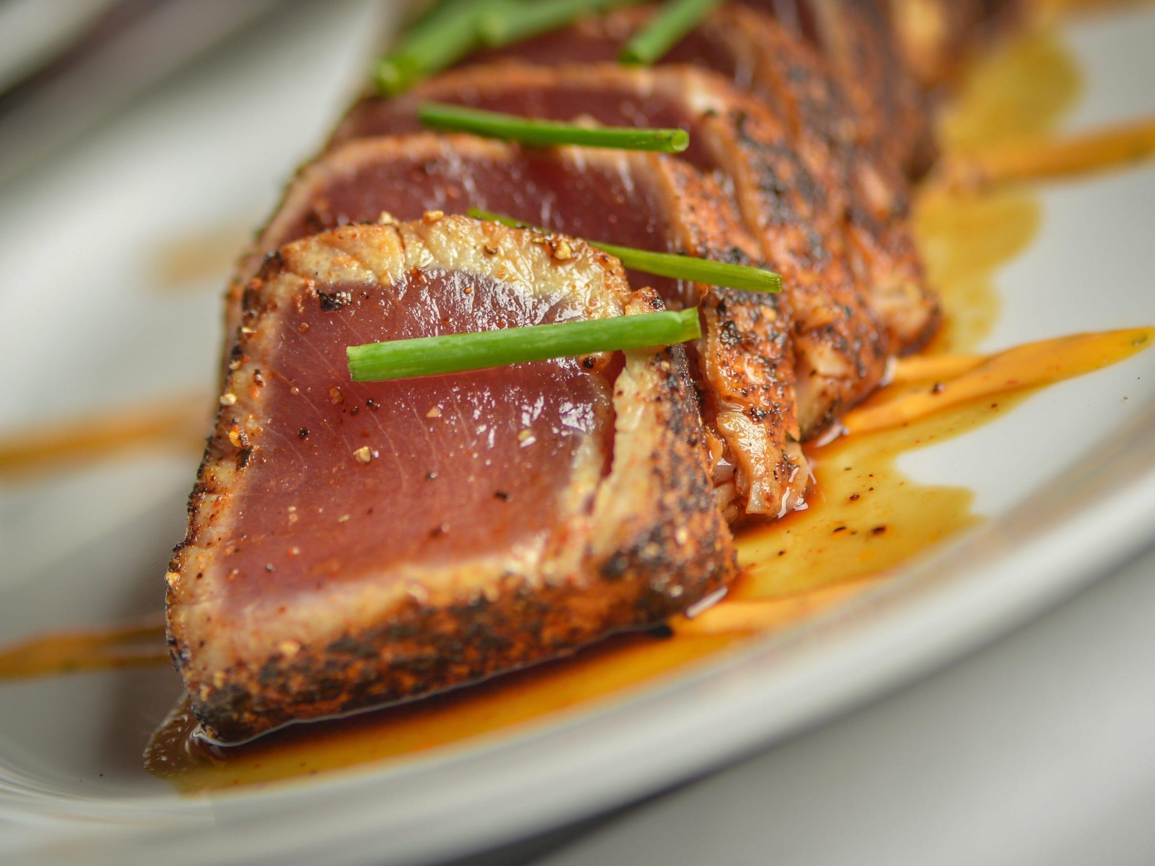 Pepper crusted big eye tuna at Ocean 44 in Scottsdale.