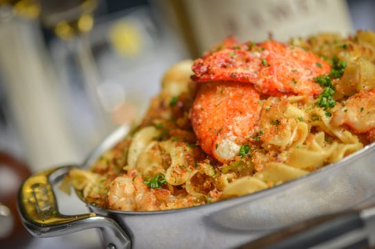 Maine lobster and browned butter noodles at Ocean 44 in Scottsdale.
