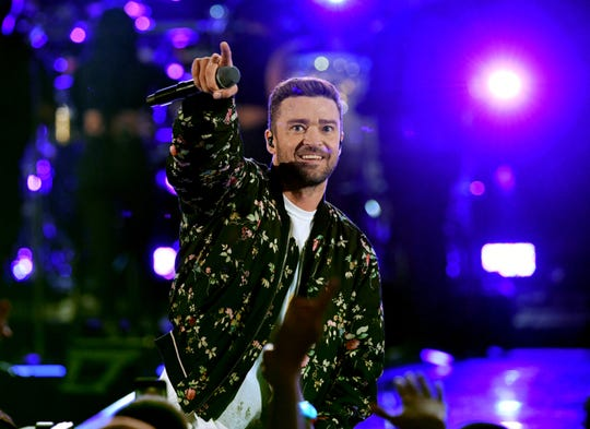 Justin Timberlake performs during the 2018 iHeartRadio Music Festival at T-Mobile Arena on September 22, 2018, in Las Vegas.