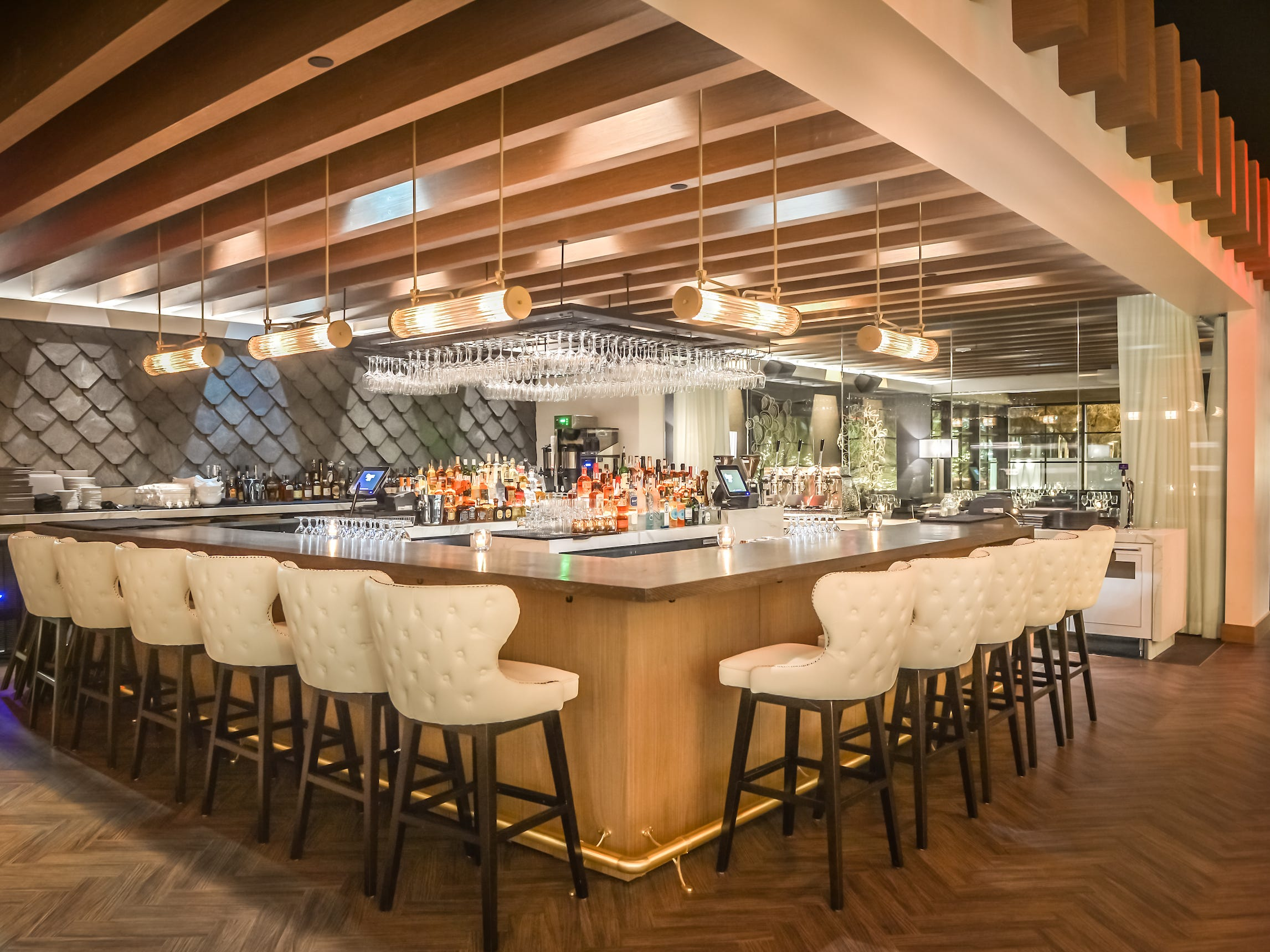 The bar inside Ocean 44 in Scottsdale.