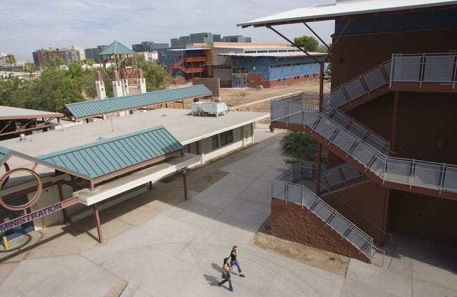 Swastikas were found scrawled on a stairwell last week at Camelback High School in the Phoenix Union High School District.