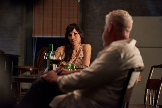 "Sophie (Famke Janssen) and Asher (Ron Perlman) are developing a relationship in ""Asher."""