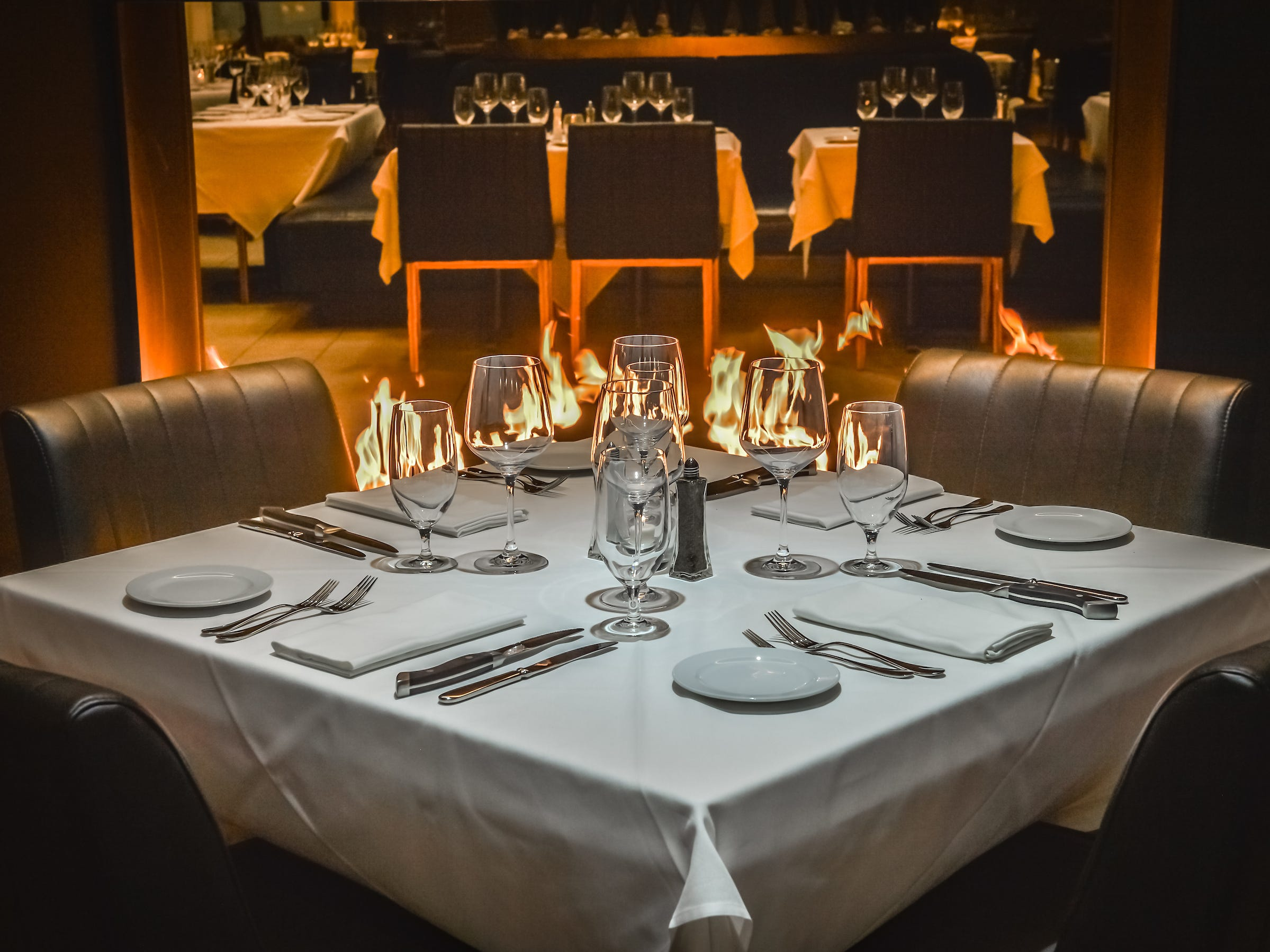 A table is ready for diners inside Ocean 44 in Scottsdale.