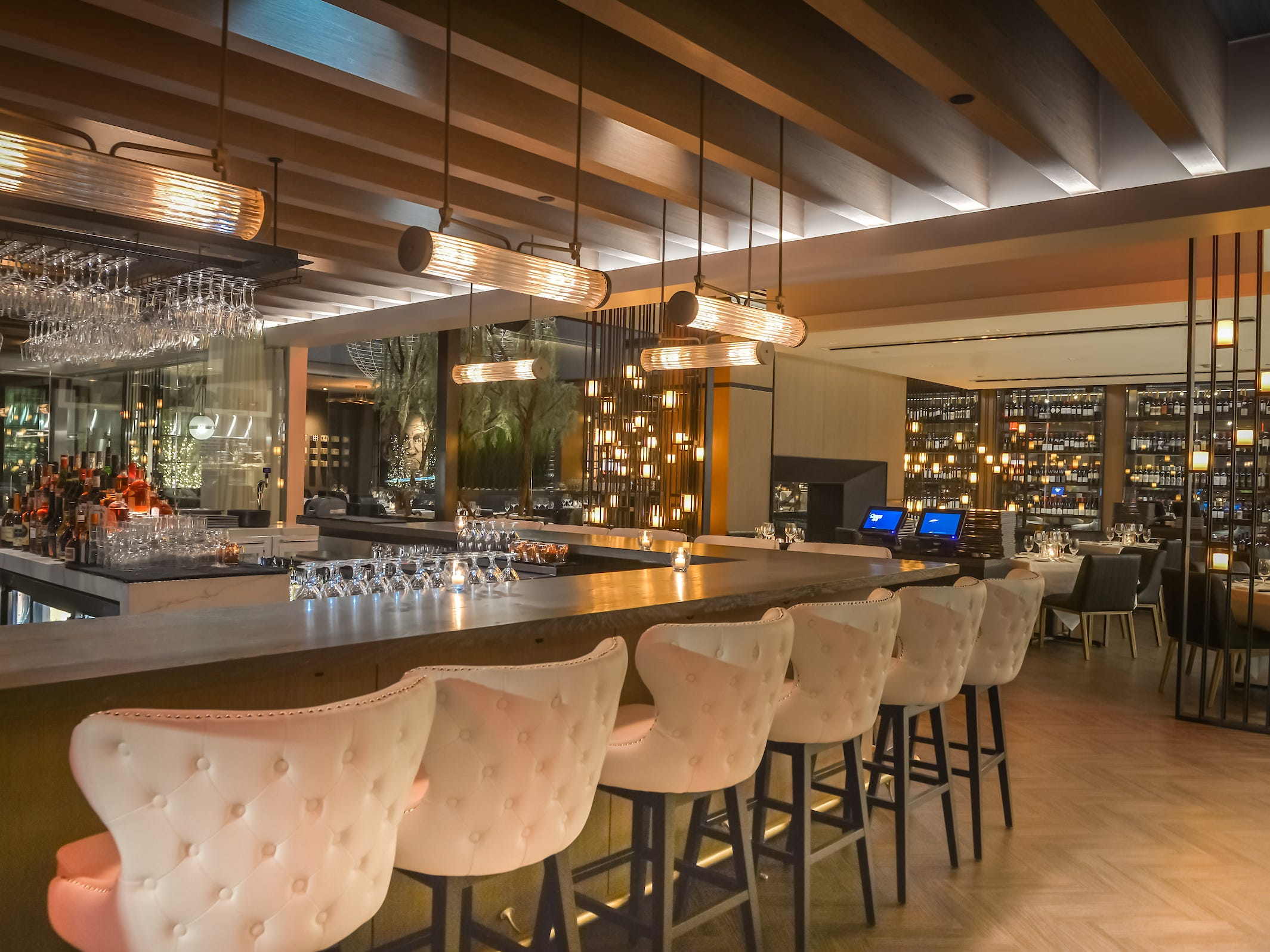 Another view of the bar inside Ocean 44 in Scottsdale.
