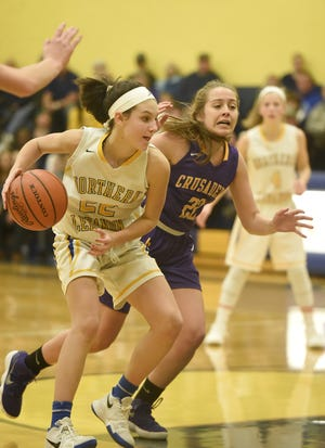 Northern Lebanon's Zara Zerman pushes inside during a game against Lancaster Catholic last season.