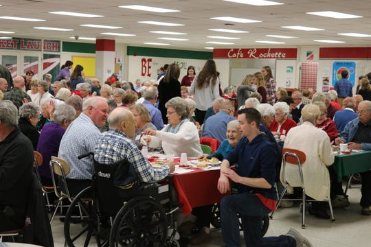 Hundreds of seniors were treated not only to a meal but entertainment as well at the annual B-C-S Senior Citizen Christmas Luncheon at Oak Harbor High School on Tuesday.