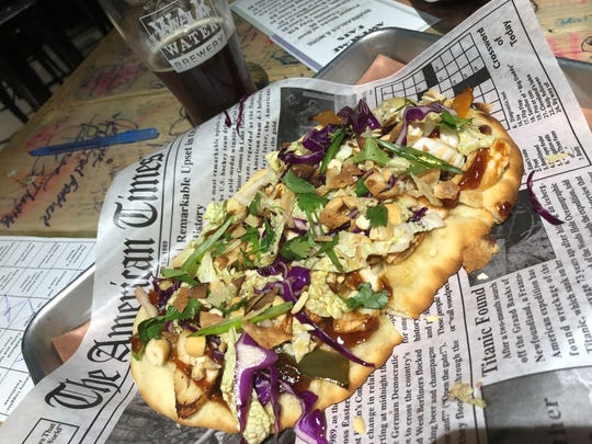 This crispy Asian flatbread is another example of the food at War Water Brewery's Wicked Awesome Eats in St. Clair.