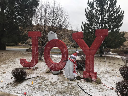 Joy sign holiday decorations