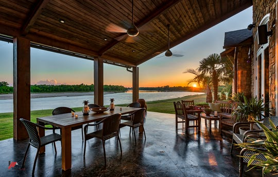 Enjoy breathtaking sunsets from the patio.
