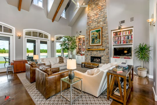 Soaring vaulted ceilings help create a majestic feel in the home.