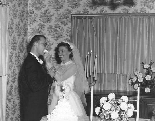 Jack and Burniece Dillard on their wedding day.