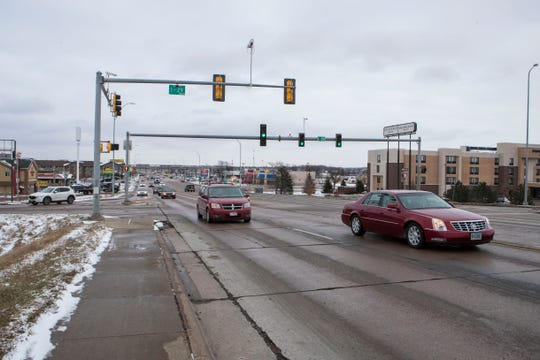 I-29 and 41st Street interchange is shown, Tuesday, Dec. 4, 2018 in Sioux Falls, S.D.