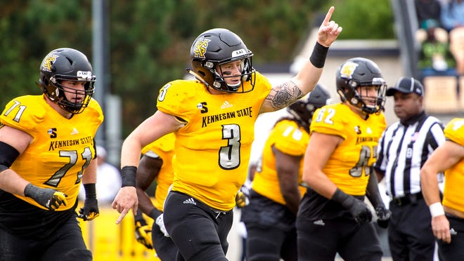 Quarterback Chandler Burks of Kennesaw State is the Big South Conference player of the year
