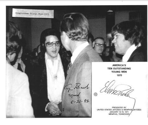 George Bush and Elvis meeting