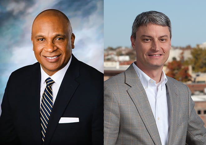 Springfield's Deputy City Managers Maurice Jones (left) and Collin Quigley (right).