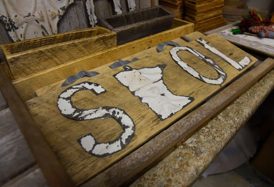 Gift items featuring reclaimed wood will be featured at Serenity Design in St. Cloud.
