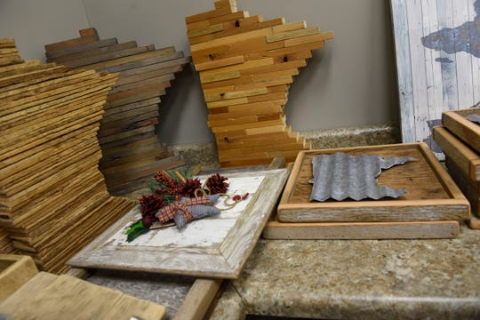 Items crafted from recycled wood products will be available at Serenity Design in St. Cloud
