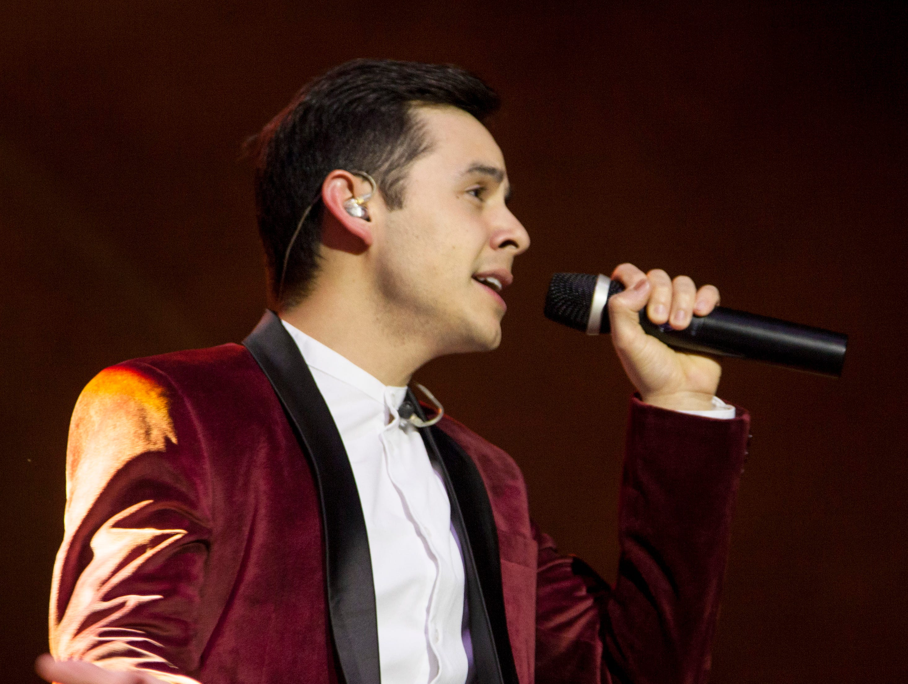 David Archuleta performs Christmas songs at the Burns Arena Monday, Dec. 3, 2018.