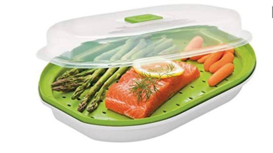 Prepworks Fish & Veggie Steamer and is available at Target for $6.99.