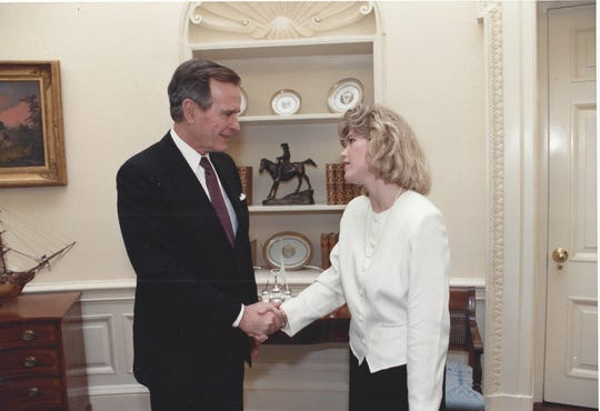 Sally Bradshaw served in the George H.W. Bush White House