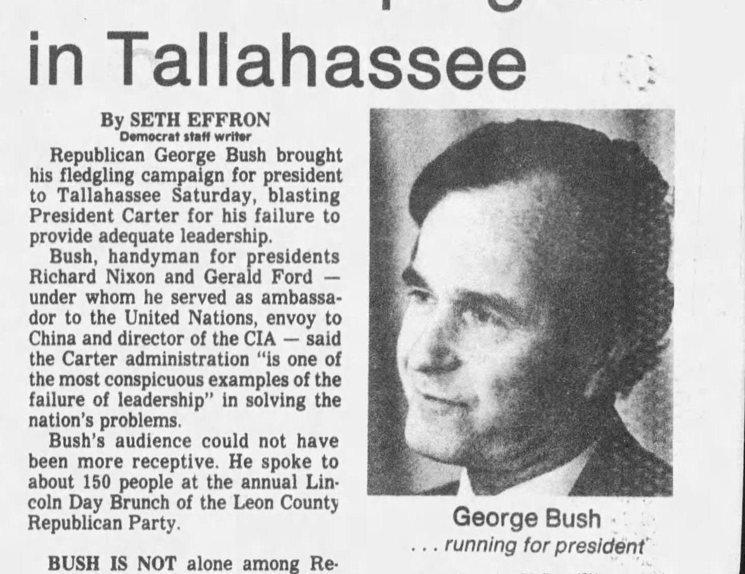 A clip from the Feb. 25, 1979, Tallahassee Democrat.