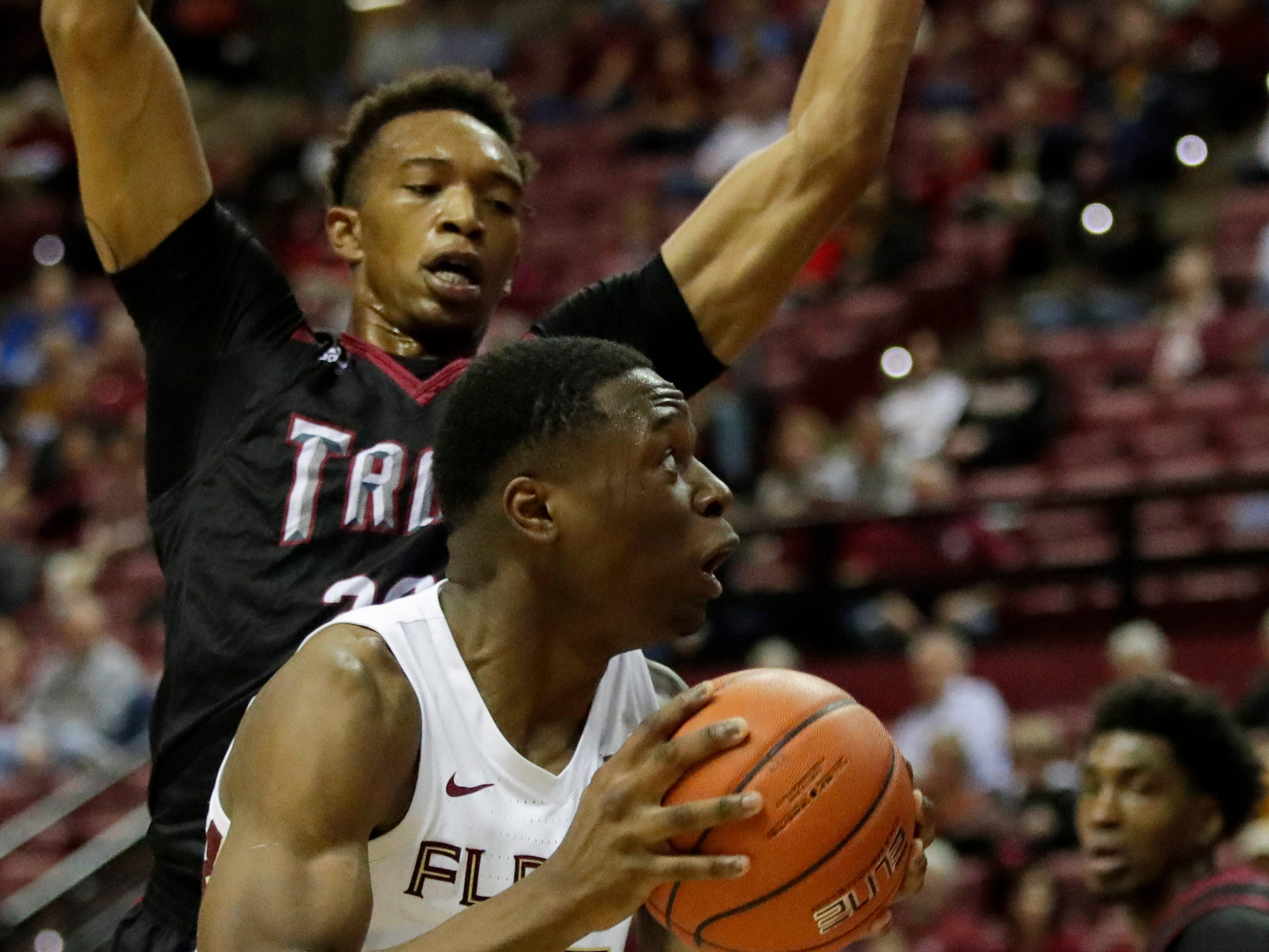 Florida State Seminoles forward Mfiondu Kabengele (25) looks to the hoop during a game between FSU and Troy University at Donald L. Tucker Civic Center Monday, Dec. 3, 2018.