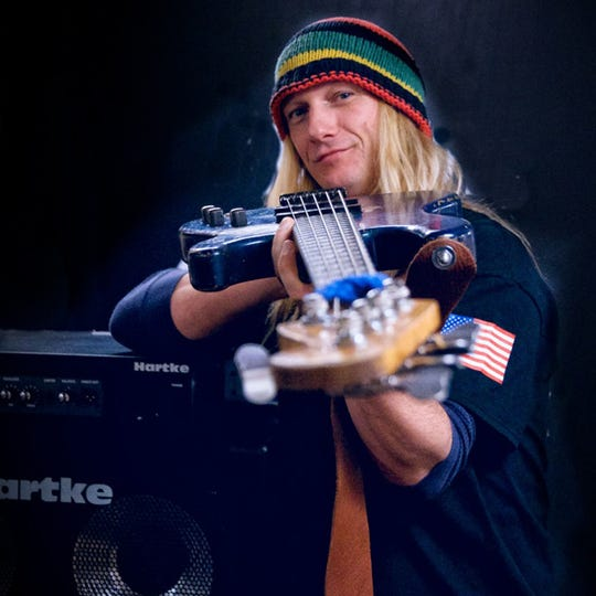 Bass player Charlie Wooton leads Zydefunk in the BBC on Saturday.