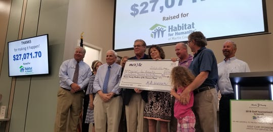Martin County Realtors® of the Treasure Coast's annual golf tournament raised $27,071 to benefit Habitat for Humanity of Martin County.