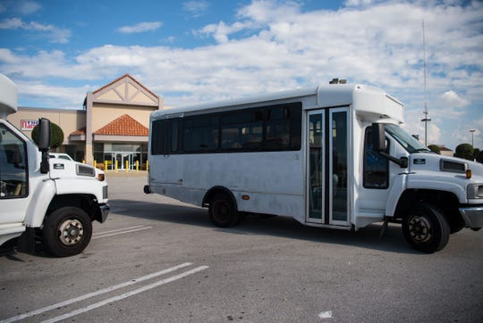 Students at The Nation Christian Academy are shuttled from the campus Monday, Dec. 3, 2018, at 10330 U.S. 1 in Port St. Lucie. Former faculty and students at the school have raised concerns about everything from housing to transportation for the post-high school graduate football team.
