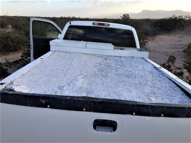U.S. Border Patrol agents found a half-ton of marijuana in a pickup after a chase Friday near Fort Hancock.