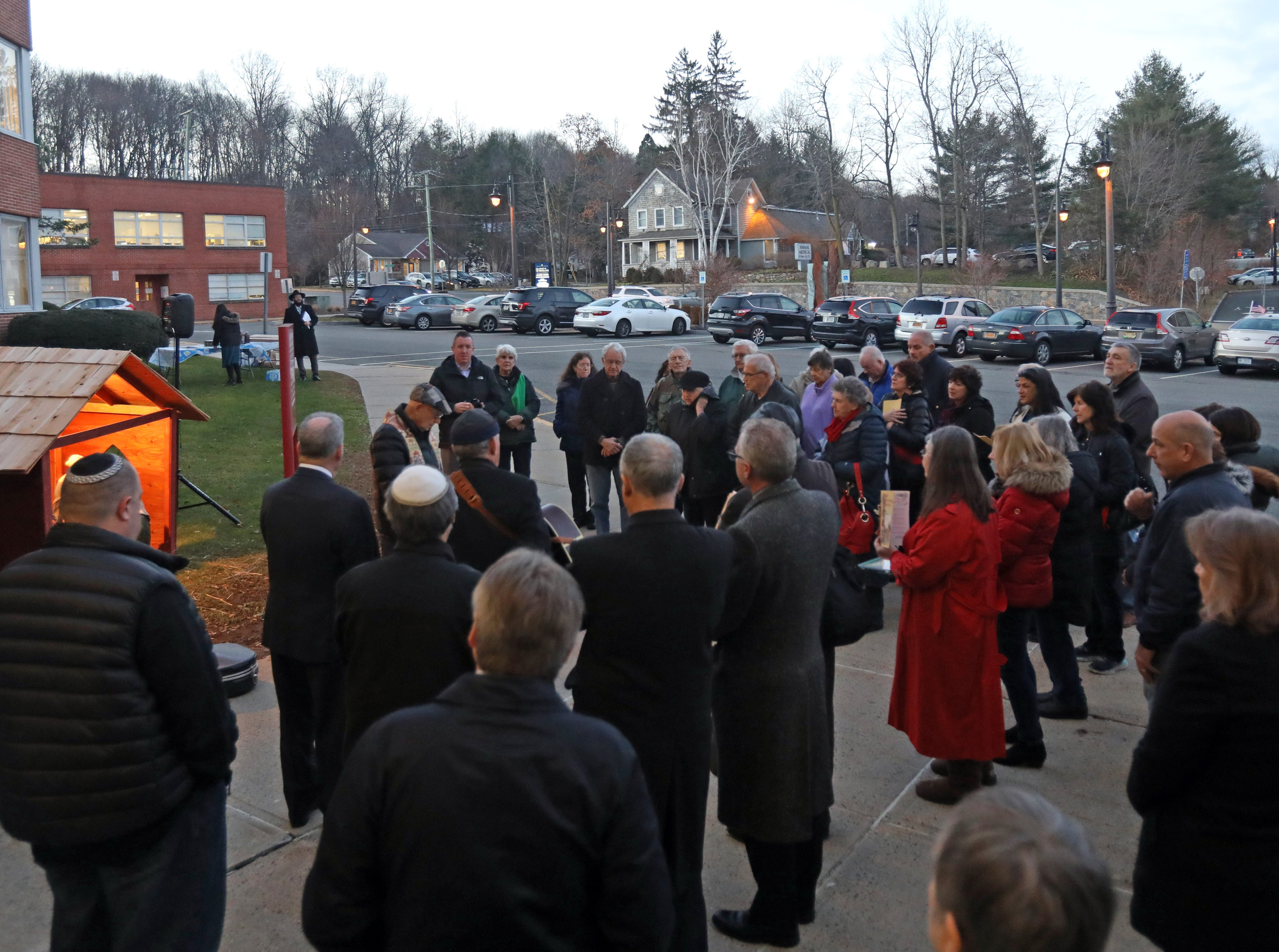 Rockland residents attending both The Blessing of the Nativity Creche and The Lighting of the Menorah at the Rockland County Office Building in New City Dec. 3, 2018.
