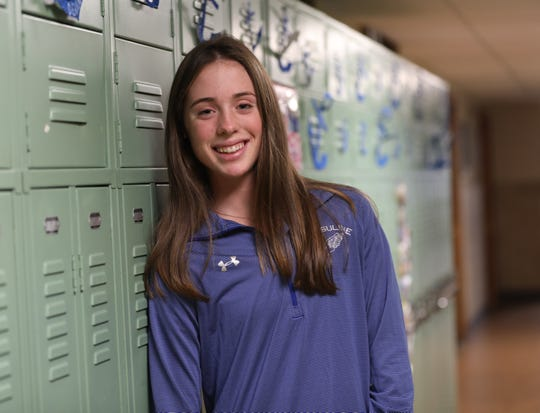 Sarah Flynn of Ursuline who is the Westchester/Putnam girls cross-country runner of the year was photographed at the school on  Nov. 30, 2018.