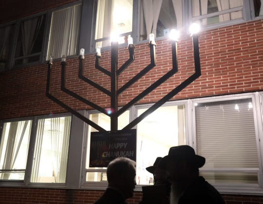 Local residents attending The Lighting of the Menorah on the second night of Hanukkah at the Rockland County Office Building in New City Dec. 3, 2018.