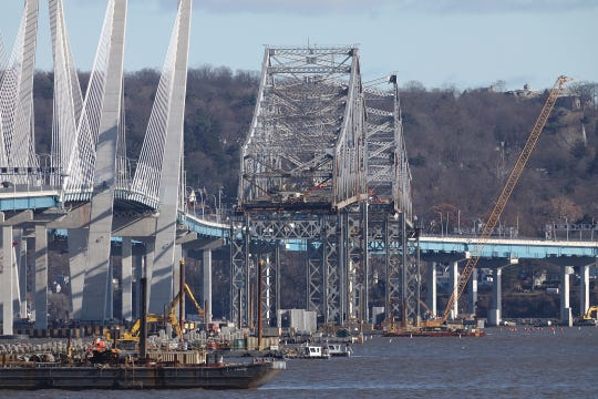 The remaining structure of the Tappan Zee Bridge photographed from Grandview-on-Hudson on Tuesday, December 4, 2018.