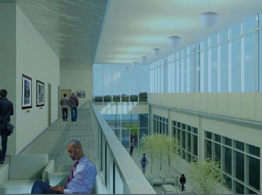 Rendering of the proposed interior of a new Orangetown Town Hall