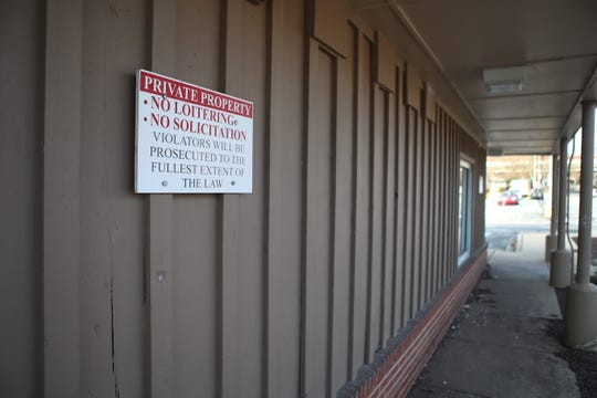 "A no loitering sign in Wilmington. People accused of minor crimes like loitering and ""manner of panhandling"" have been hit with no-contact orders banning them from the entire city of Wilmington."