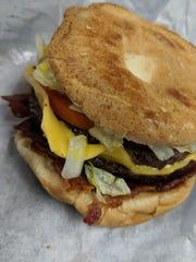 Pat's Drive In cheeseburger