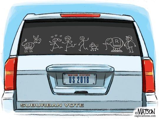 Suburban Vote Goes To Democrats