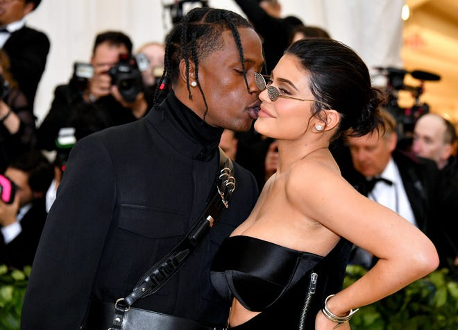 Travis Scott and Kylie Jenner at the Met Ball on May 7, 2018, in New York City.
