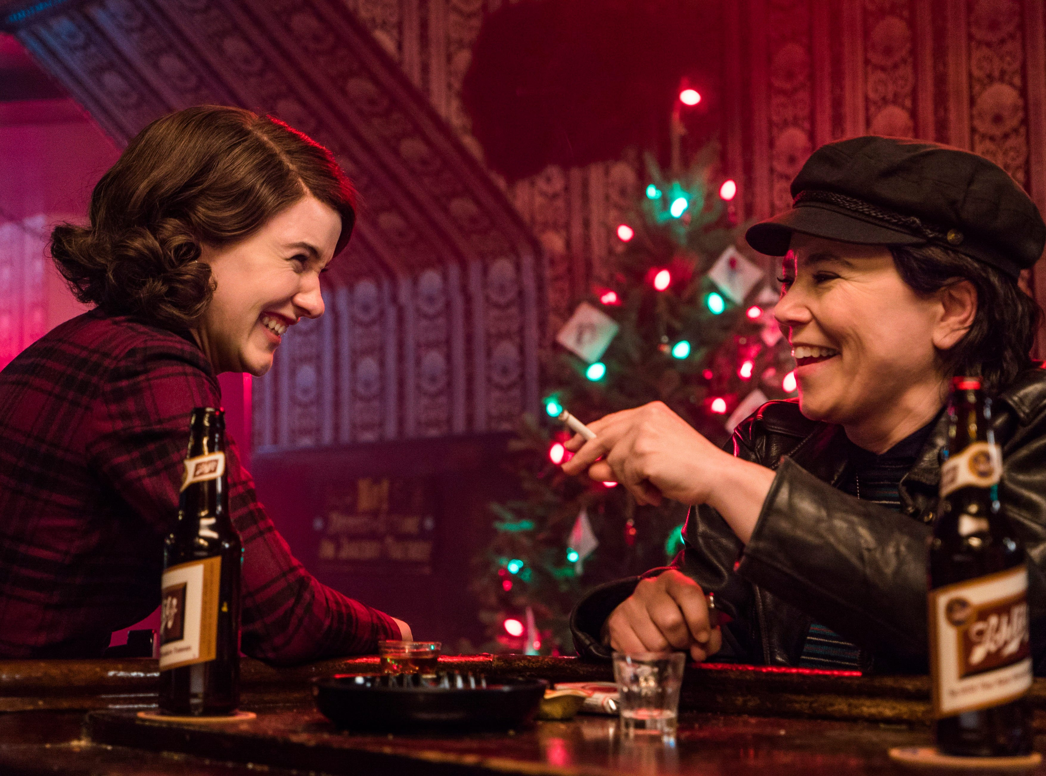 "Rachel Brosnahan and Alex Borstein in Emmy Award-winning ""The Marvelous Mrs. Maisel"" on Amazon."