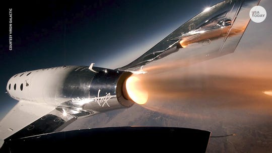 Virgin Galactic and Under Armour show off new spacesuits for crew, commercial passengers