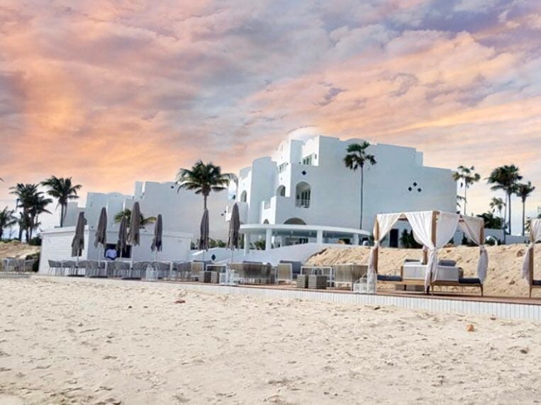 A member of Leading Hotels of the World, the Greek-inspired design has been restored to its pre-storm glory.